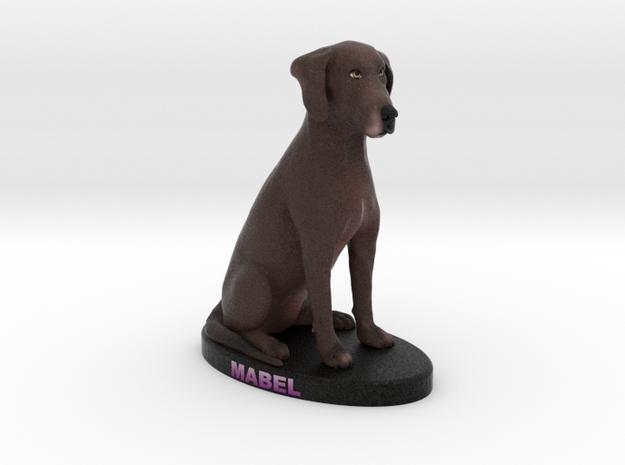 Custom Dog Figurine - Mabel in Full Color Sandstone