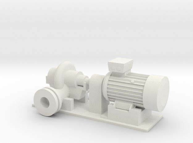 O Scale Centrifugal Pump #1 (Size 4) v2 in White Natural Versatile Plastic
