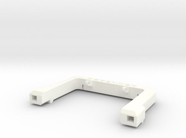 Defender A-Frame Protection Bar - Vanquish in White Processed Versatile Plastic