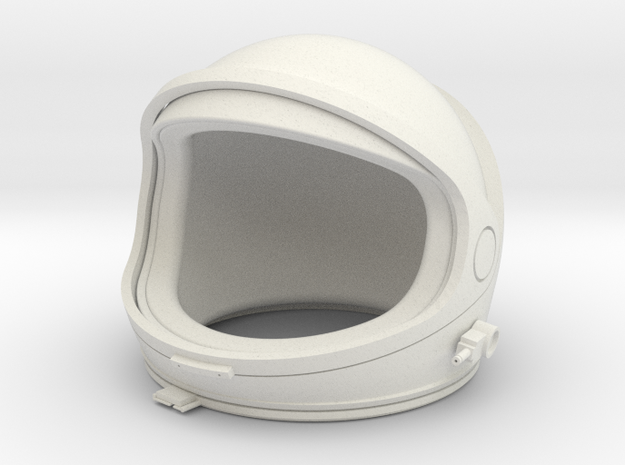 Desktop Astronaut (helmet) in White Natural Versatile Plastic