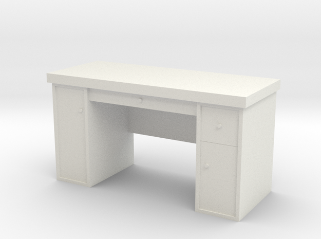 1:35 Scale Desk  in White Strong & Flexible