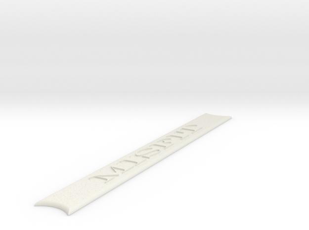 Misfit Oil Tank Emblem in White Natural Versatile Plastic