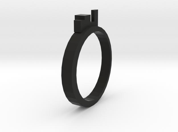 Ring for Kings (19 mm inside diameter) in Black Natural Versatile Plastic