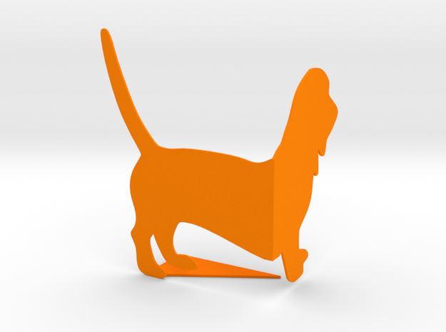 Bookend in Orange Strong & Flexible Polished