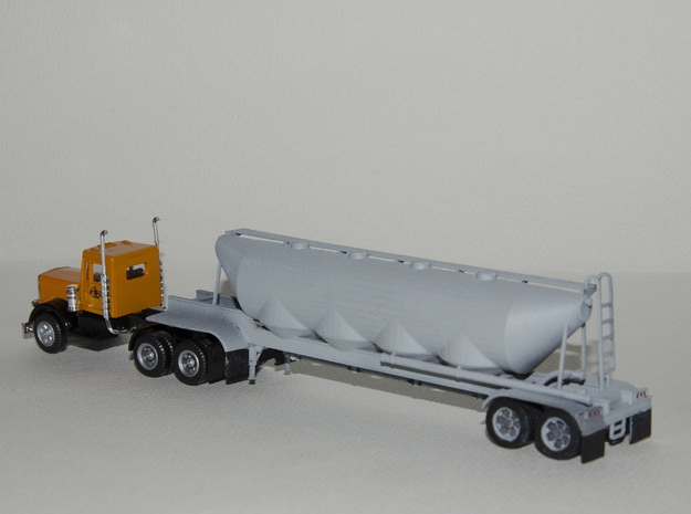 HO 1/87 Dry Bulk Trailer 01 3d printed Photos from my very first customer.