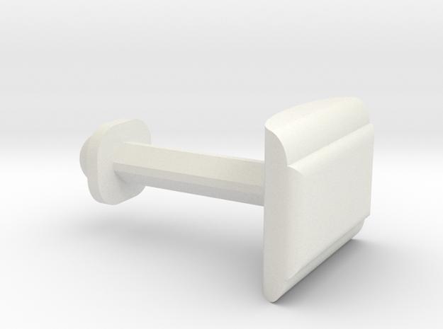 Customize this cufflink   in White Natural Versatile Plastic
