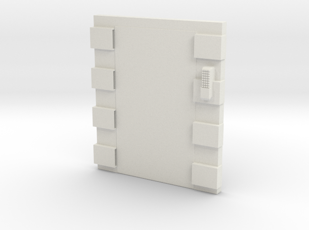 Elevator Shell (non opening) in White Natural Versatile Plastic