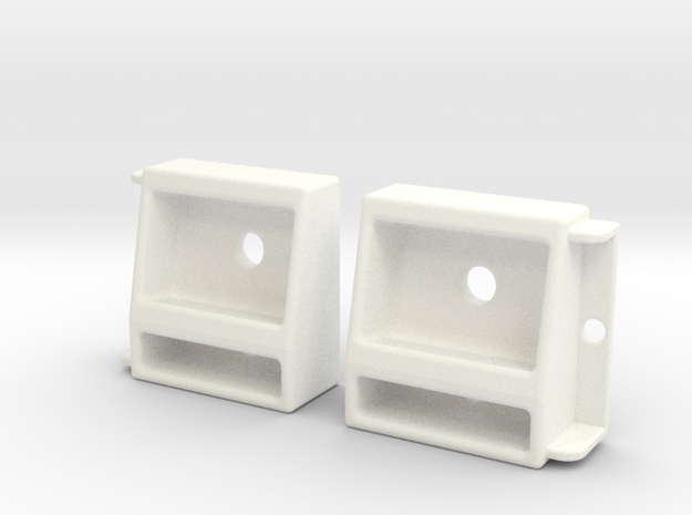 1/10 SCALE PROLINE JEEP FRONT LIGHT SET in White Processed Versatile Plastic