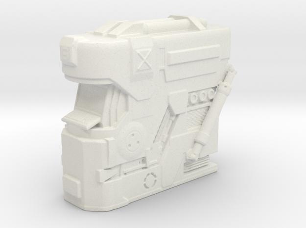 1:32 sci fi engineering console in White Natural Versatile Plastic