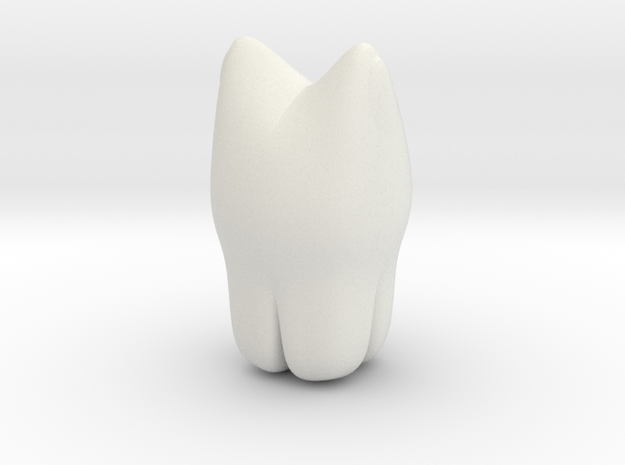 Toothy in White Natural Versatile Plastic