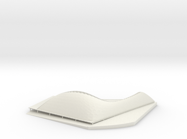 SUTD Library Pavilion  20150724C in White Natural Versatile Plastic