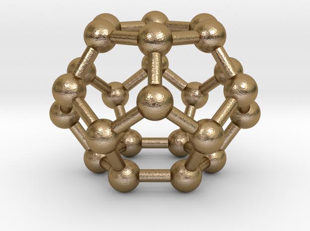 0002 Fullerene c24 d6d in Polished Gold Steel