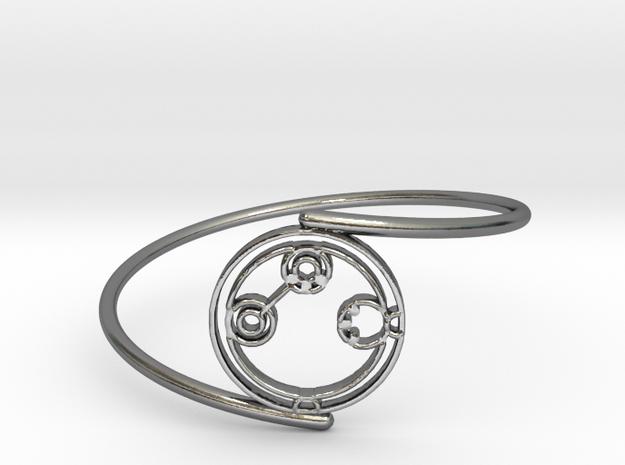 Adaline - Bracelet Thin Spiral in Polished Silver