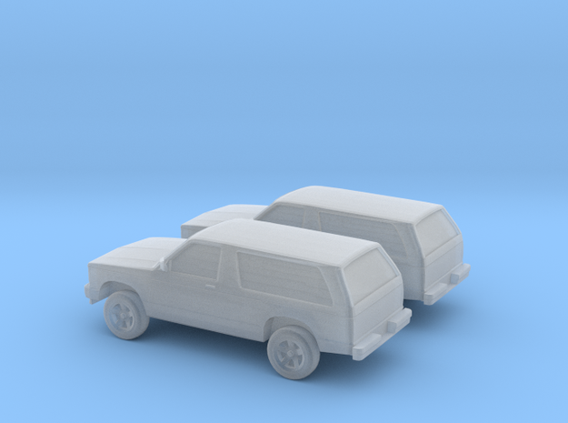 1/160 2X 1984 Chevrolet S10 Blazer in Smooth Fine Detail Plastic