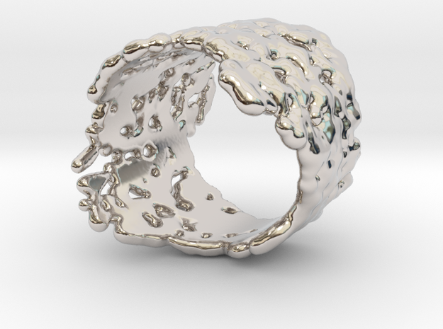 Ring Melting No.8 in Rhodium Plated Brass