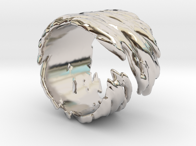 Smooth Twisted Open-ended in Rhodium Plated Brass