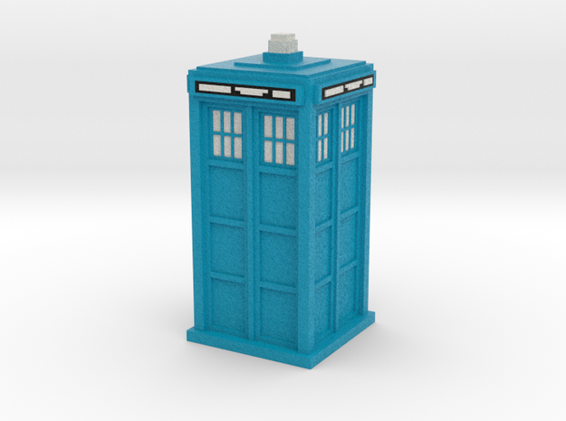 Pixelated Tardis (Baker-era) in Full Color Sandstone