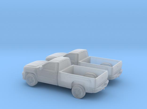 1/160 2X 2013 Chevrolet Sillverado Single Cab Long in Smooth Fine Detail Plastic