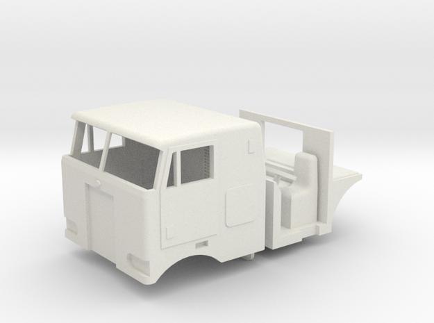 1/64 Peterbilt 352 Cab, Interior, grill and headli in White Natural Versatile Plastic
