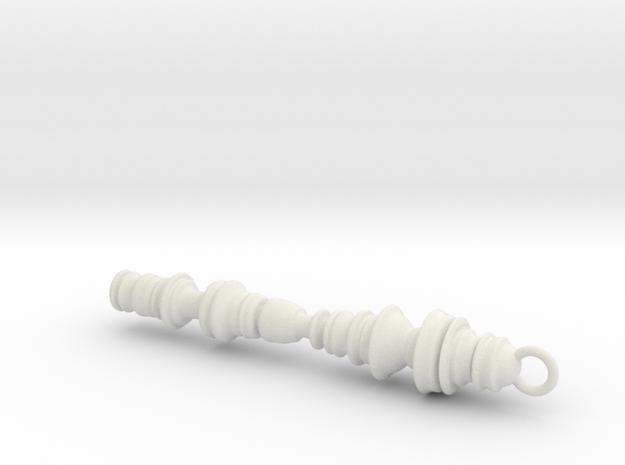 Sound Wavesaound in White Natural Versatile Plastic