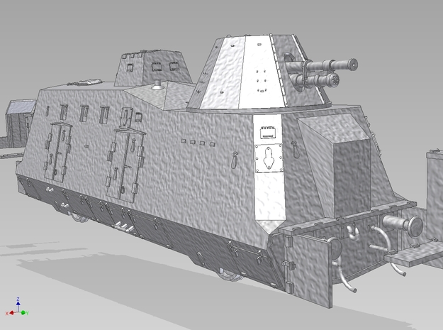 HO G-Wagen Armored Train BP-42 3d printed
