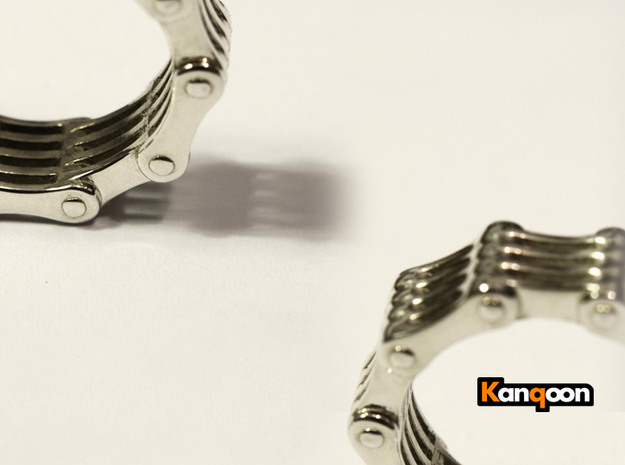 Violetta S9 - Bicycle Chain Ring in Matte Black Steel: 6.75 / 53.375