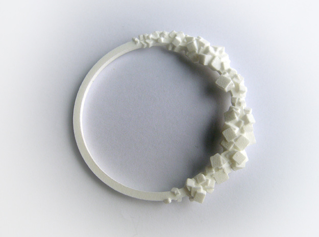 Rock Bracelet  in White Natural Versatile Plastic