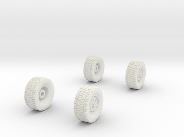 1/87-matv-v2-wheels (repaired) in White Natural Versatile Plastic