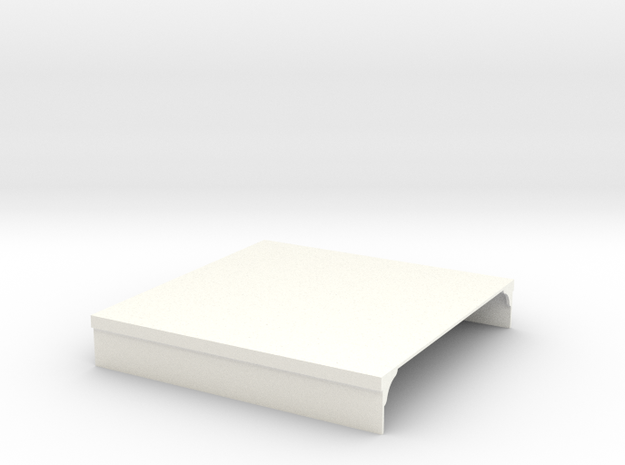 Platform section (100mm wide) in White Processed Versatile Plastic