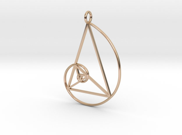Art Pendant in 14k Rose Gold Plated Brass