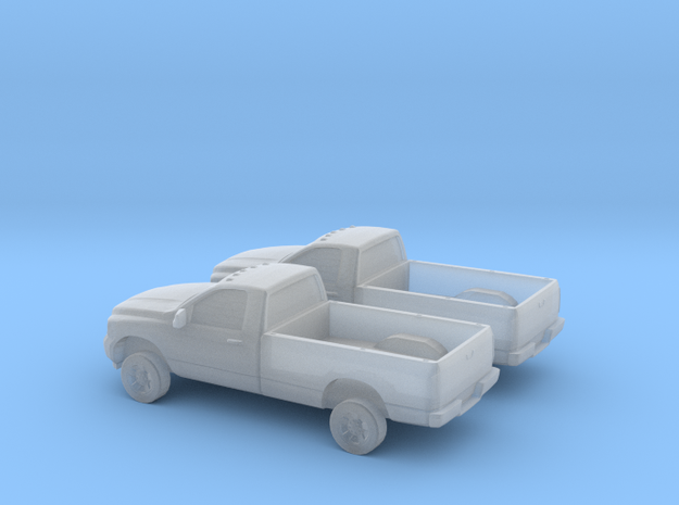 1/160 2X 2006 Dodge Ram Single Cab in Smooth Fine Detail Plastic