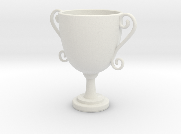 Mini trophy in White Natural Versatile Plastic