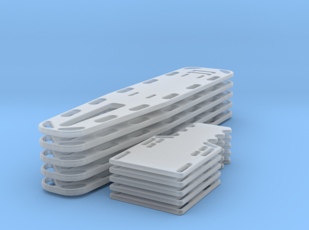1/35scale  Full/half Spine Board 5ea in Smooth Fine Detail Plastic