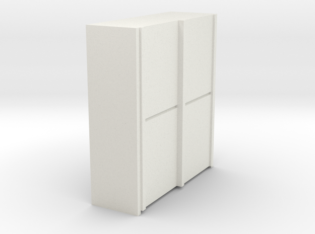 A 014 sliding closet Schiebeschrank 1:87 in White Natural Versatile Plastic