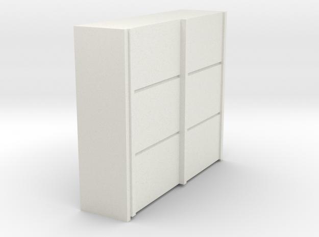 A 016 sliding closet Schiebeschrank 1:87 in White Natural Versatile Plastic
