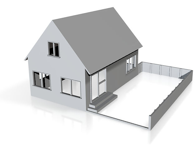 Two storey house 1:120 3d printed