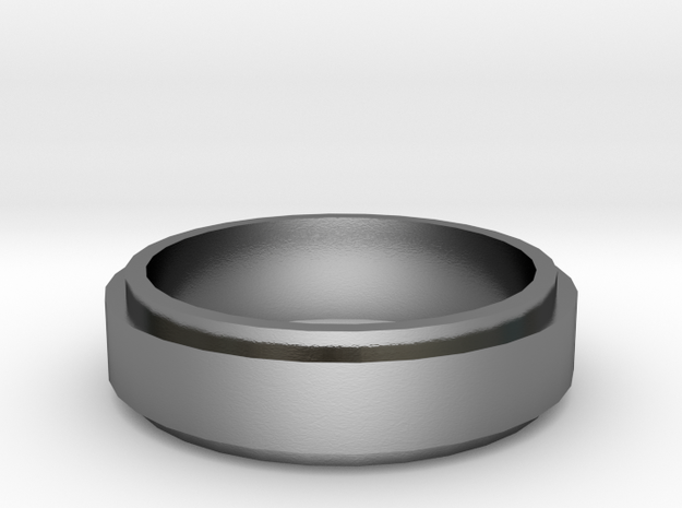 On top ring (19 mm diameter)  in Polished Silver