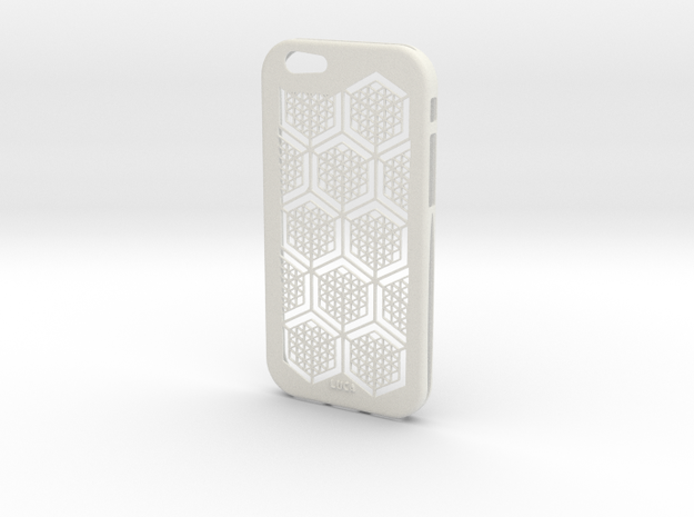 Iphone 6 Pattern in White Strong & Flexible