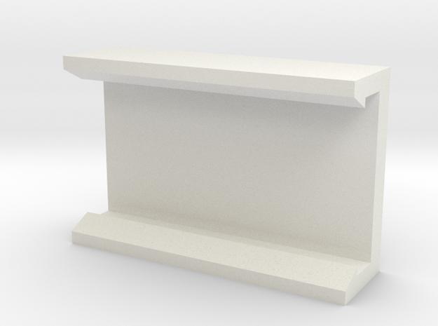 Rail Attachment Piece V1 in White Natural Versatile Plastic