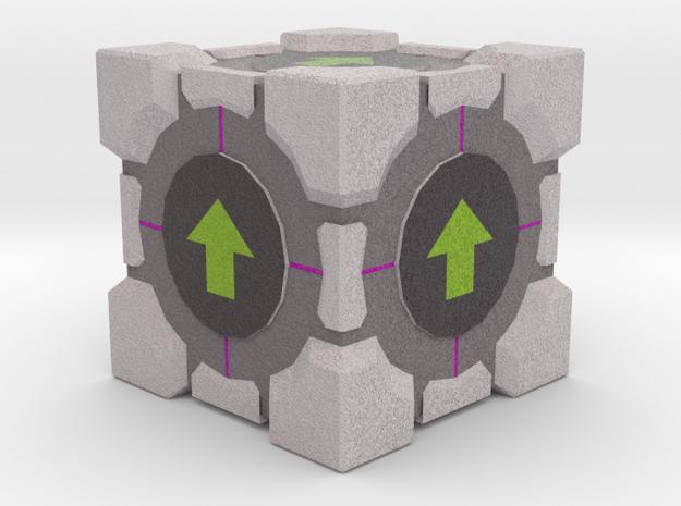 Upvote Cube in Full Color Sandstone