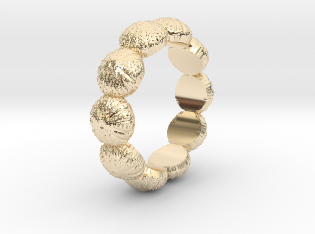 Urchin Ring 1 - US-Size 4 (14.86 mm) in 14k Gold Plated Brass