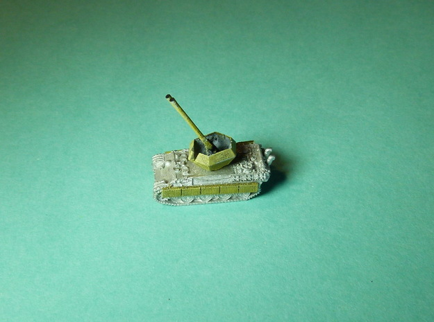 Flakpanther Gerät 58 5,5cm Twin 1/285 6mm in Smooth Fine Detail Plastic