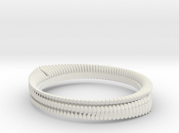 Tooth ring(Japan 10,USA 5.5,Britain K)  in White Strong & Flexible