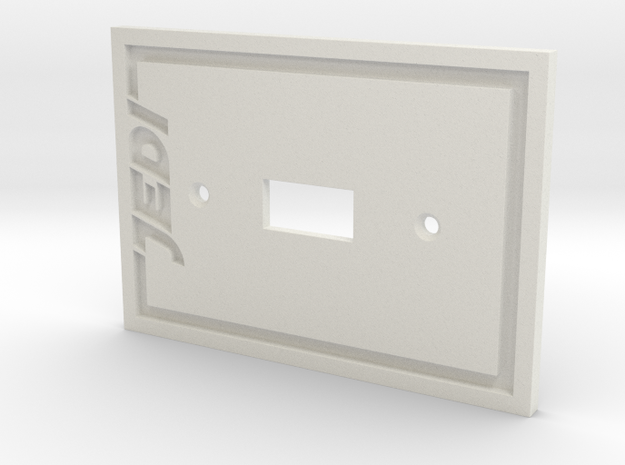 Jedi Light Switch Plate in White Natural Versatile Plastic