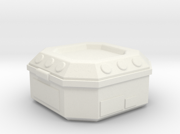 Modern/Sci-fi Tiny Case in White Natural Versatile Plastic