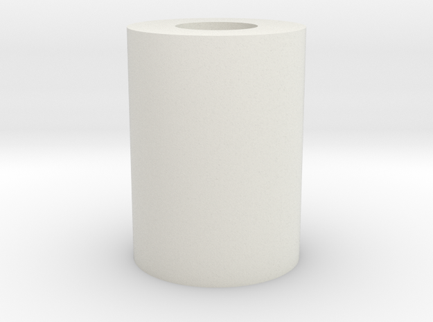 22mm 510 Tap Guide (ID 10mm) in White Natural Versatile Plastic