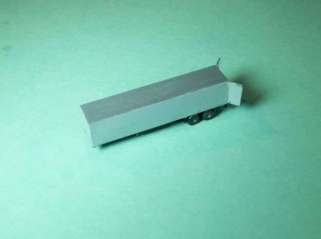 Semi Trailer / Sattelauflieger 1/285 6mm in Smooth Fine Detail Plastic