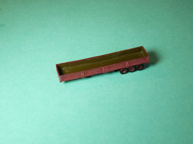 Semi Trailer / Auflieger 1/285 6mm in Smooth Fine Detail Plastic