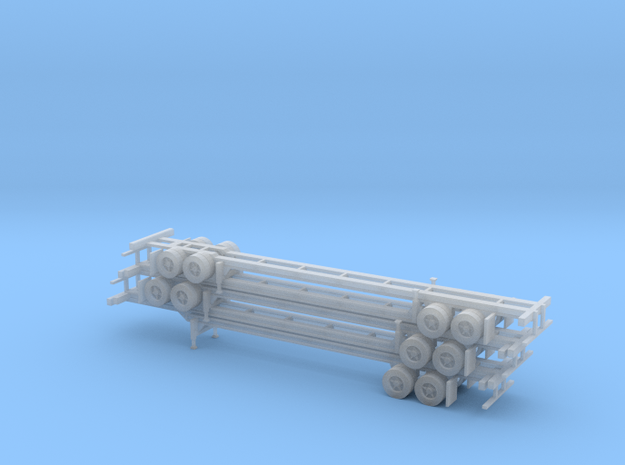 N 40' Container Chassis Stack #2 in Smooth Fine Detail Plastic