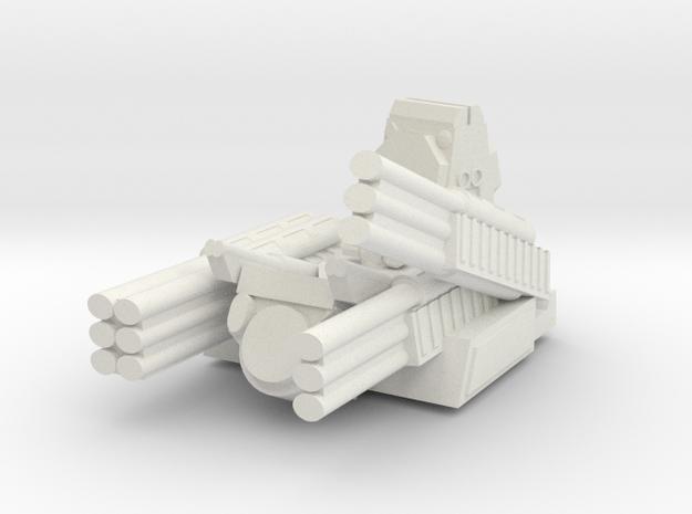 Russian S1 Pantsir Turret 6mm Alternate in White Strong & Flexible
